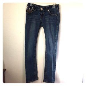 True Religion Jeans Joey Super T Brown Stitches